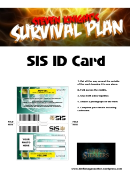 Printable SIS Card