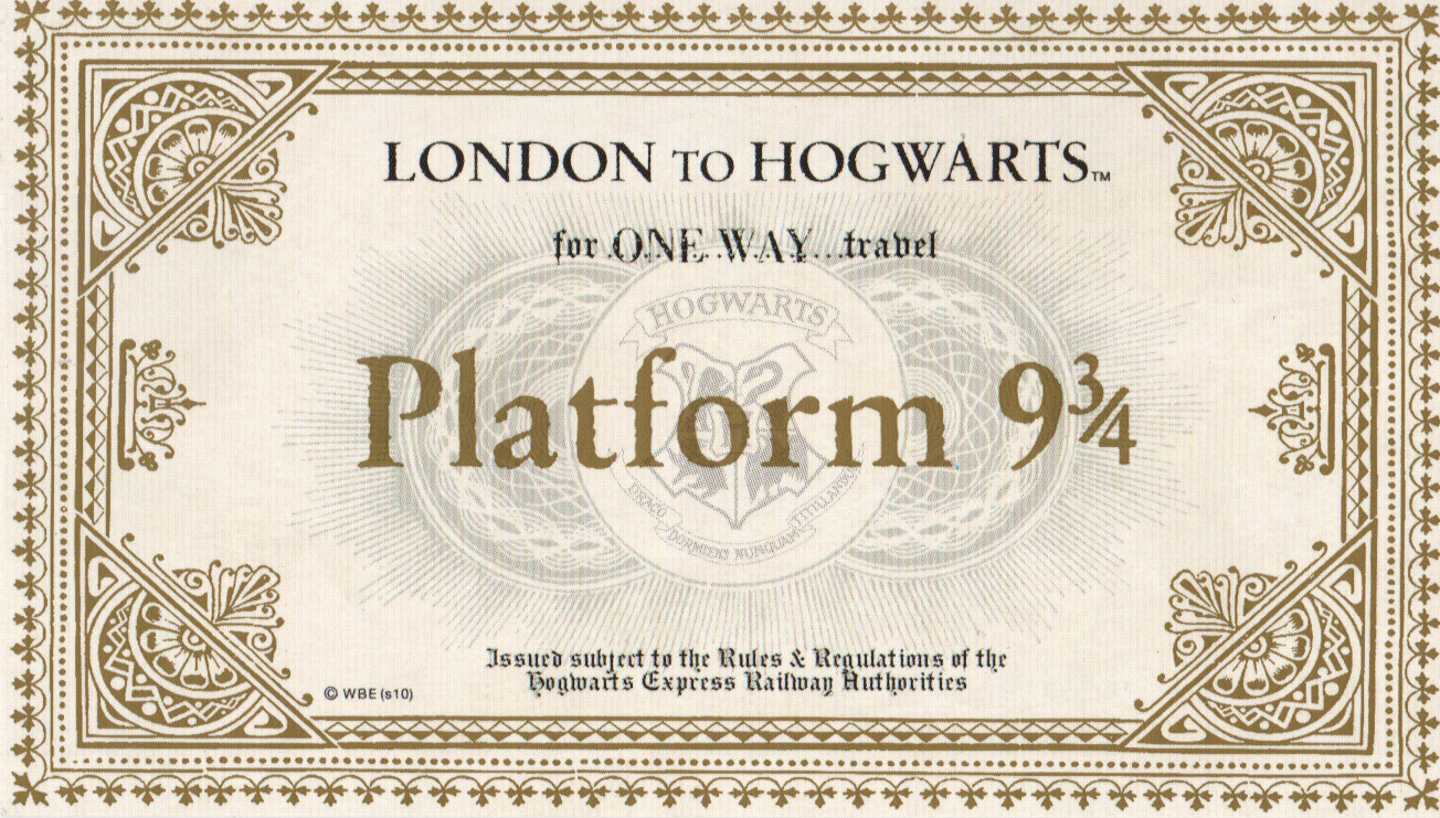 graphic about Platform 9 3 4 Sign Printable titled Previous get in touch with for System 9 3/4\u201d 5 times still left toward acquire Harry